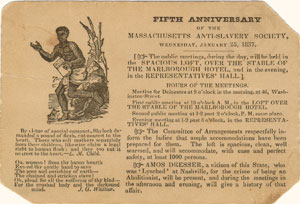 Massachusetts Anti-Slavery Society Notice, 1837