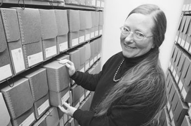 Archivist Susan Dayall, Hampshire College